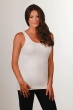 Womens seamless one size fits most qvc-basic tank-ivory